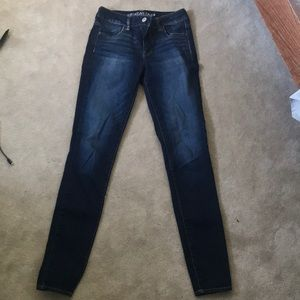 Dark wash high waisted jeans from American Eagle